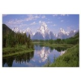 Mount Moran Snake River Oxbow Bend Grand Teton Nat