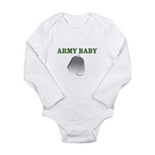 Unique Army girls Long Sleeve Infant Bodysuit