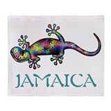 Funny Gecko Throw Blanket