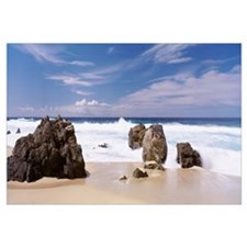 Rocks on the beach, Big Sur Coast, Pacific Ocean,
