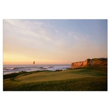 Golf course on the coast, Half Moon Bay, Californi