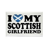 I Love My Scottish Girlfriend Rectangle Magnet