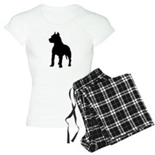 Pit Bull Terrier Silhouette Pajamas