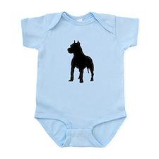 Pit Bull Terrier Silhouette Infant Bodysuit