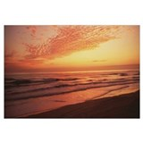 Sunrise over Atlantic Ocean, Daytona Beach Shore,