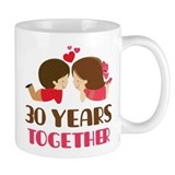 30 Years Together Anniversary Small Mug