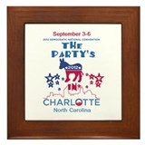 Democratic Convention Framed Tile