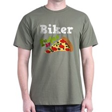 Biker Funny Pizza T-Shirt