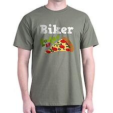 Biker Funny Pizza T-Shirt