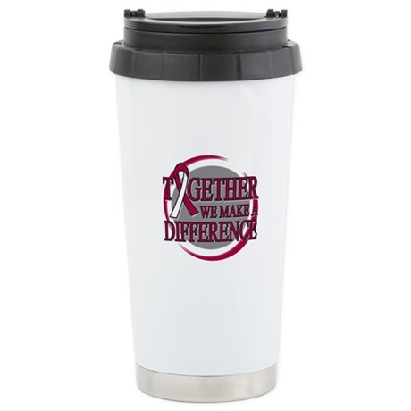 Throat Cancer Support Ceramic Travel Mug