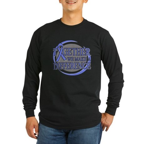 Stomach Cancer Support Long Sleeve Dark T-Shirt