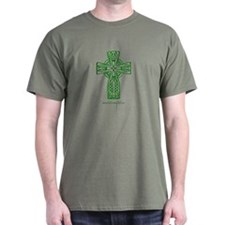 Celtic Cross n4 Green T-Shirt