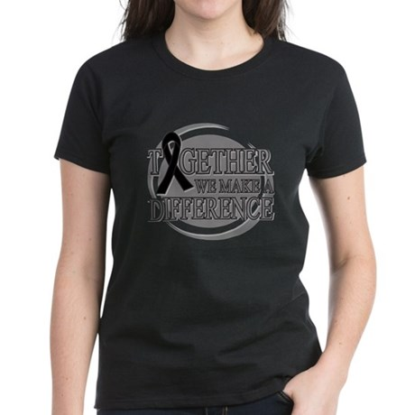 Skin Cancer Support Women's Dark T-Shirt