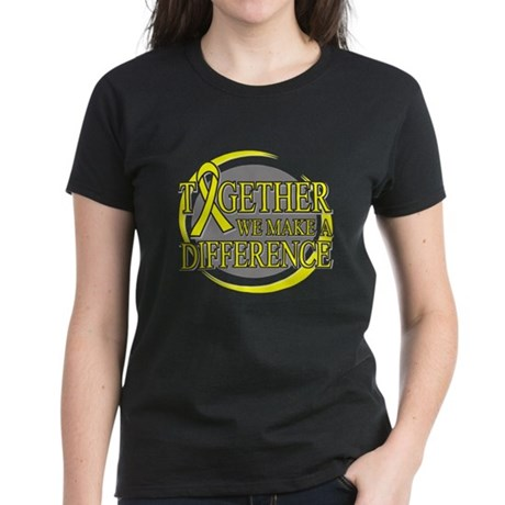 Sarcoma Cancer Support Women's Dark T-Shirt