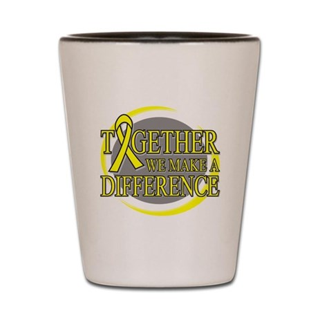 Sarcoma Cancer Support Shot Glass
