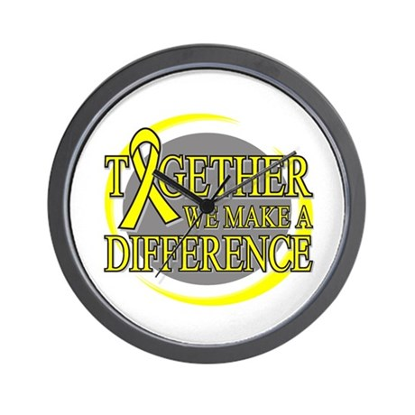Sarcoma Cancer Support Wall Clock