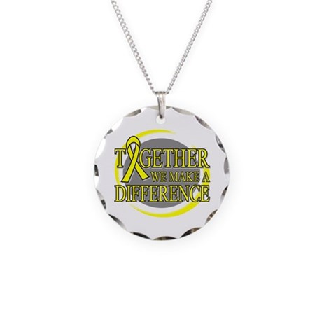 Sarcoma Cancer Support Necklace Circle Charm