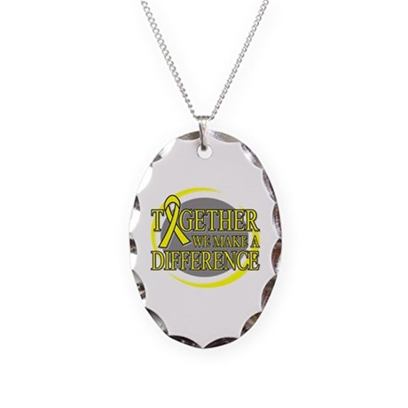 Sarcoma Cancer Support Necklace Oval Charm