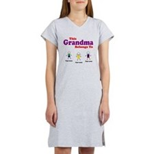 Personalized Grandma 3 kids Women's Nightshirt