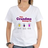 Personalized Grandma 3 kids Shirt