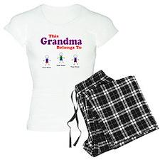 Personalized Grandma 3 kids Pajamas