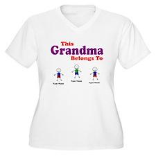 Personalized Grandma 3 kids T-Shirt