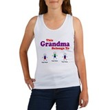 Personalized Grandma 3 kids Women's Tank Top