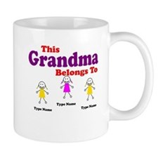 Personalized Grandma 3 girls Mug