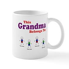 Personalized Grandma 4 boys Small Mug
