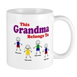 Personalized Grandma 4 kids Small Mug