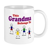 Personalized Grandma 4 kids  Tasse