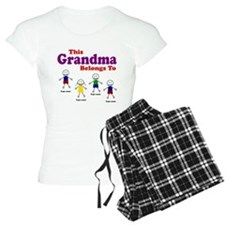 Personalized Grandma 4 kids pajamas
