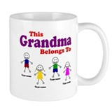 Personalized Grandma 4 kids Small Mugs