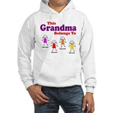 Personalized Grandma 4 girls Hoodie