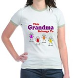 Personalized Grandma 4 girls T
