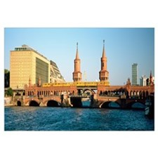 Bridge on a river, Oberbaum Brucke, Berlin, German