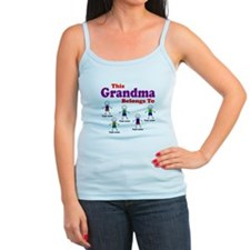 Personalized Grandma 5 boys Jr.Spaghetti Strap
