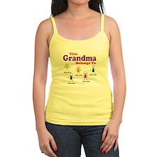 Personalized Grandma 5 kids Jr.Spaghetti Strap