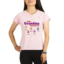 Personalized Grandma 5 kids Performance Dry T-Shir