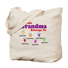 Personalized Grandma 6 girls Tote Bag