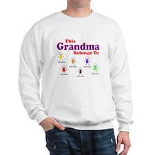 Personalized Grandma 6 kids Sweatshirt