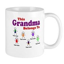 Personalized Grandma 6 kids Coffee Mug