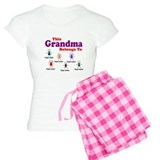 Personalized Grandma 6 kids pajamas