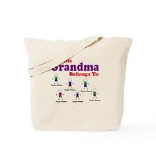 Personalized Grandma 6 boys Tote Bag