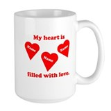 Personalized My Heart Filled  Tasse