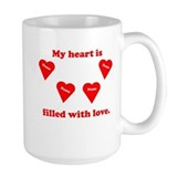 Personalized My Heart Filled Ceramic Mugs