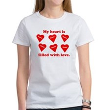 Personalized My Heart Filled Tee