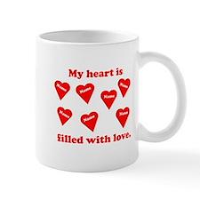 Personalized My Heart Filled Mug
