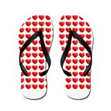 Matrix Hearts Flip Flops