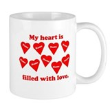 Personalized My Heart Filled Coffee Mug